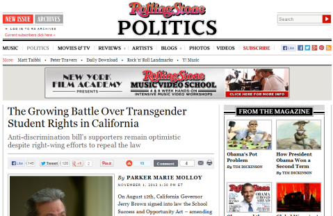 The Growing Battle Over Transgender Student Rights in California
